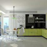 Салатовая кухня. Варианты и цветовые сочетания салатовой кухни